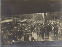 Paris The parade of the 14 july 1919 Three (3) small Photo Scapshot Vintage