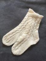 NEW HANDMADE 100% WOOL Women's  Socks Knitted Size 5 Pattern Xmas Gift
