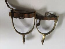 New Listingvintage western brass spurs Unknown Origins. Look at pictures.