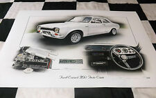 FORD ESCORT MK1 MARK 1 1600 TWIN CAM 1972 NEW PAINTING PRINT ART CHRIS DUGAN A++