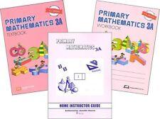 Primary Mathematics 3A SET -- Textbook, Workbook, & Home Instructor U.S. Edition
