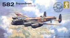 AV600 582 Sqn SWALES VC Lancaster PFF WWII WW2 RAF cover signed BRYN LEACH DFM