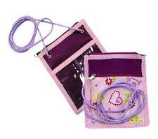 STEFANO Brustbeutel Kinder Kindertasche Geldbörse Geldbeutel Etui pink rosa