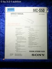 Sony Service Manual MC S50 Network Player (#6331)