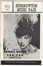"Patrice Munsel Playbill 1963 ""Can-Can"" Summer Stock  Storrowton Music Fair"