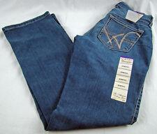 Womens Wrangler Q-BABY WRQ25BR Plain Pocket Mid Rise Boot Cut Jean Sz 3/4 x 32