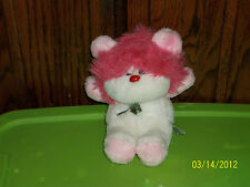 1985 ANIMAL TOY IMPORTS PINK HAIR TEDDY BEAR PLUSH FROU FROU? LION