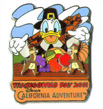 Disney Dca Thanksgiving Donald Chip Dale Pin