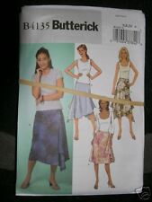 BUTTERICK PATTERN 4135 Sz 6-8-10 SKIRTS LADIES MISSES Side Zipper UncutNew Skirt
