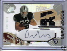 2003 JUSTIN FARGAS SPX AUTOGRAPHED JERSEY ROOKIE CARD