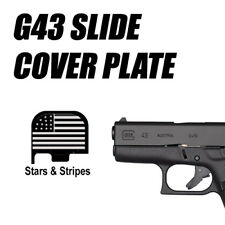 Replacement Slide Cover Plate for Glock G43 - AMERICAN FLAG STARS AND STRIPES