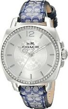 Coach Boyfriend Signature Leather Strap Crystal Glitz Womens Watch 14502417