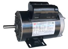 """3 HP 3450 RPM Electric Motor Compressor Duty 56 Frame 1 Phase 5/8"""" Shaft 230V"""