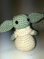 Baby Yoda Inspired The Child Star Wars Mandalorian Amigurumi Crochet Plush 5""