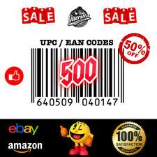 500 UPC EAN Code Numbers Barcodes Bar eBay amazon US EU Guerila Stock WORLDWIDE