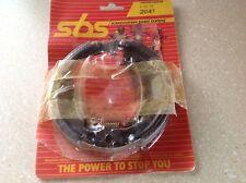 New SBS Brake Shoes 2041 Honda CB125 CR125R CR250R XL250R