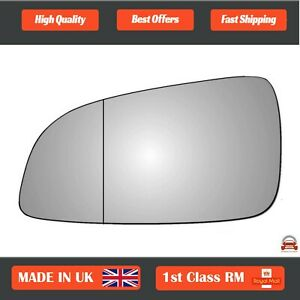 Left Side Stick On Wide Angle Wing Mirror Glass Vauxhall Astra H 2004-2009 18LAS