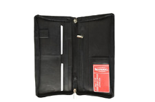 MARSHAL BLACK ZIP AROUND LEATHER PASSPORT WALLET ALL NEW HIGH QUALITY