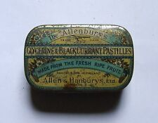 THE ALLENBURYS GLYCERINE & BLACKCURRANT PASTILLES TIN GC C PHOTOS OF ACTUAL ITEM