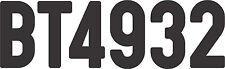 "ATV LICENSE DECAL 2"" REGISTRATION NUMBERS DECAL HONDA YAMAHA KAWASAKI POLARIS"