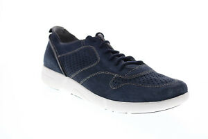 Geox U Brattley A Mens Blue Suede Lace Up Euro Sneakers Shoes