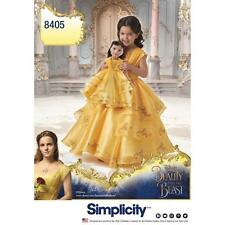 """SIMPLICITY SEWING PATTERN Disney Beauty & the Beast Costume Child 18"""" DOLL 8405"""