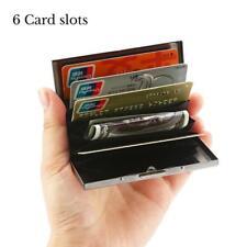 Aluminum Metal Slim Bank Credit Card Holder RFID Blocking Thin Wallet Case Clip