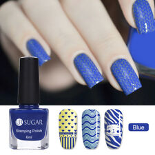 UR SUGAR 6ml Nail Image Stamping Polish Blue Plates Printing Varnish Manicure