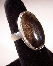 Delightful Hematite Silver Plated Ring Size 6.0   HEMR10