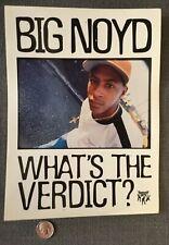 Rare 90's VTG BIG NOYD Promo Sticker LARGE 20x6 Tommy Boy Hip-Hop Rap Queens