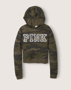 Victoria Secret PINK Womens New Lounge Lightweight Pullover Camo Relaxed Fit