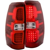 Anzo L.E.D Tail Lights Red/Clear For 07-13 Chevy Avalanche #311143