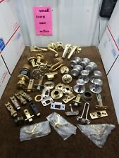 Lot of 49 Chrome brass Door Knobs Levers and other parts