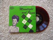 """EXC RED VINYL """"Moonlight and Roses"""" Lanny Ross Jane Froman Royale  7"""" EP 152."""