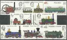 Timbres Trains Pologne 2262/9 o lot 16909