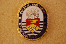 US USA USN Navy USS New Jersey BB-62 Military Hat Lapel Pin