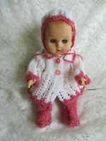 "Doll Clothes Handknitted 3pc set, Fit baby So Truly Real 10"" Ginny 12"""