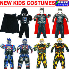 NEW SIZE 2-12 KIDS COSTUMES MUSCLE BOYS THOR STAR WARS TRANSFORMERS AVENGER GIFT