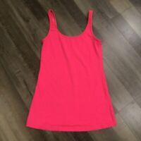 Lululemon Daily Tank 6 Flash Hot Coral Pink Top Shirt Luon