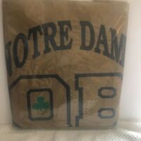 Vintage Notre Dame Quarterback Club (mint in bag) Gold Rain Poncho (1997)