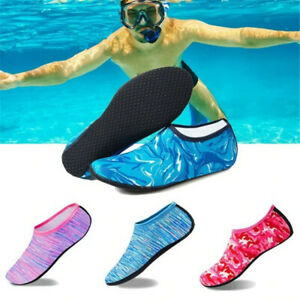 Unisex Aqua Shoes Mens Womens Kids Water Socks Slip On Sea Wet Beach Swim Surf 6