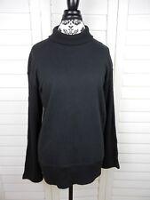 Vintage DKNY Knit Turtleneck Sweater Womens Medium Black Casual Pullover Cotton