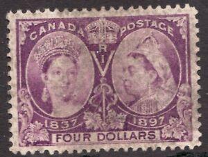 Sc# 64 - Canada - $4 - 1897 Diamond Jubilee - Used GEM - superfleas - cv $1600