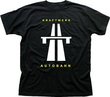 KRAFTWERK AUTOBAHN RETRO TECHNO CD printed cotton t-shirt TC9599