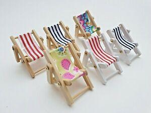 Deko Liegestuhl Miniliegestuhl 5cm versch. Muster Urlaub Geldgeschenk Strand