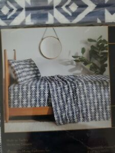 Pendleton Twin Flannel Sheet Set 3 Piece Cotton Washable White S. Multi