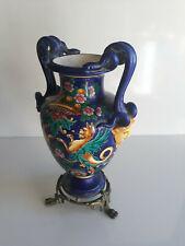 Jules Vieillard - vase monture bronze - fond bleu - ca 1880