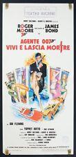 LOCANDINA, AGENTE 007 VIVI E LASCIA MORIRE-BOND Live and Let Die 1a ED. POSTER B