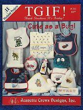 Cross Stitch Pattern Cute As A Bug Baby Motifs Quick