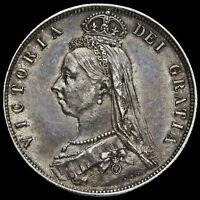 1887 Queen Victoria Jubilee Head Silver Half Crown, G/EF #2